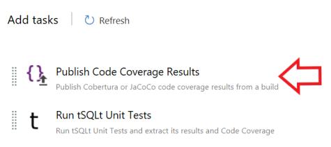 Publish Code Coverage add