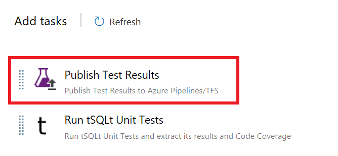 Publish Test Results add